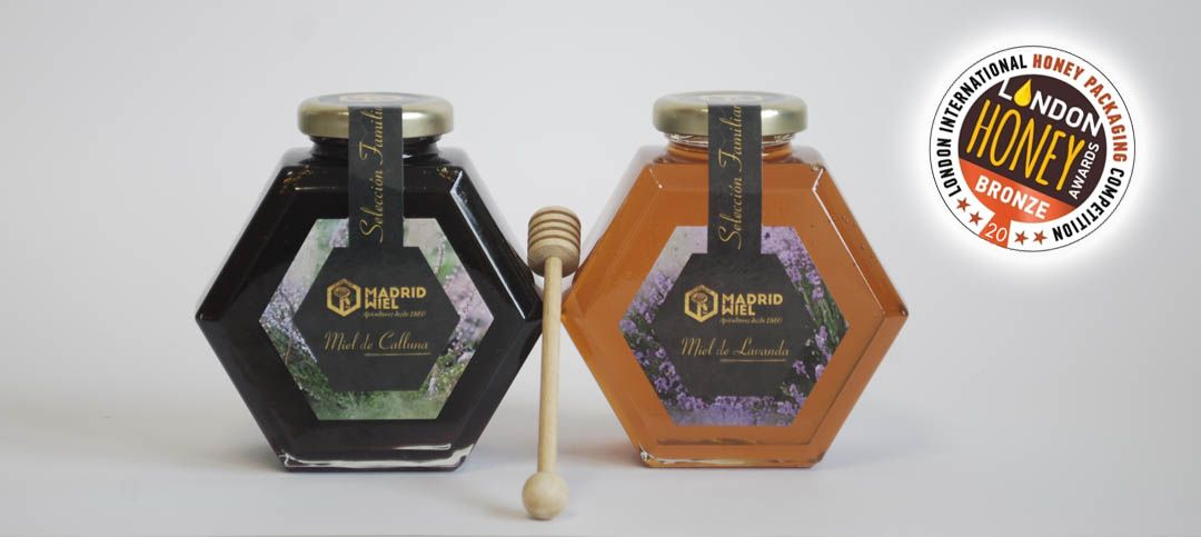 Miel Madrid España Galardonada Medalla Bronce Premios LONDON HONEY AWARDS 2020